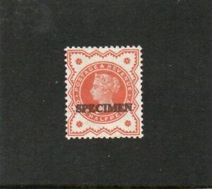 GB Stamps. QV.1/2d Vermillion. Specimen Overprint. L/M. Mint