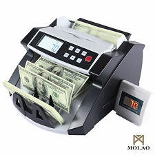 Money Bill Counter Machine Cash Counting Bank Counterfeit Detector UV & MG