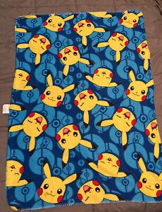 Northwest Blue Pokemon Thin Fleece Throw Blanket Pikachu 50x36