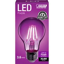 FEIT Electric  Filament  4.5 watts A19  LED Bulb  450 lumens Purple  A-Line  30