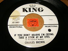 CHARLES BROWN - IF YOU DON'T BELEIVE I'M CRYING - LISTEN - SOUL RNB POPCORN