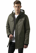 Heavy Cotton Parka Urban Classics Streetwear Jacket Wintry Man XL Green