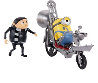Mionons: The Rise of Gru Movie Moments Pedal Power Gru w Bike Action Figures 4+
