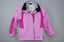 SPYDER Pink Hooded Winter Coat Jacket Fleece Lined - Youth Girls M 10