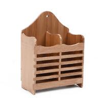Bamboo Utensil Holder Cutlery Storage Chopsticks Kitchenware Drying Drainer Rack