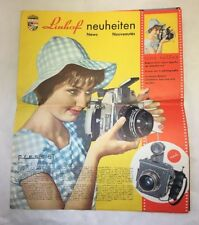 Vintage 1950's 60's Linhof Cine Rollex 35mm Camera Advertising Sales Brochure
