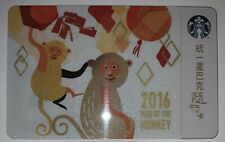 Starbucks 2015 Year Of The Monkey Special Edition Taiwan Card