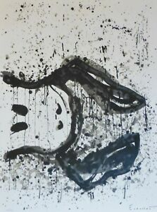 """TOM EVERHART  """"Watchdog 3 O'Clock"""" PEANUTS SNOOPY Hand signed Lithograph"""