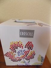 New Croscill Mosaic Leaves Tissue Box Cover Holder