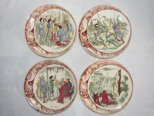 05E44 LOT DE 4 ANCIENNE ASSIETTE PARLANTE HISTOIRE DE JEANNE D'ARC SARREGUEMINES