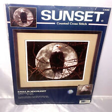 Dimensions Sunset 13688 Eagle in Moonlight Counted Cross Stitch Unopened USA
