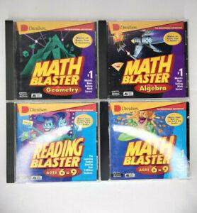 Davidson Math & Reading Blaster Ages 6-9, Geometry, & Algebra PC CD ROM