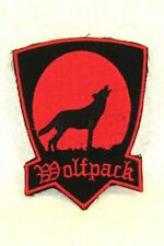 WOLF PACK red on black Small for Biker Vest Jacket Motorcycle Patch