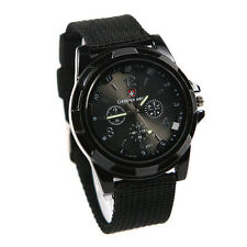 gemius army Military Army Pilot Fabric Strap Sports Men Watch Black ZH