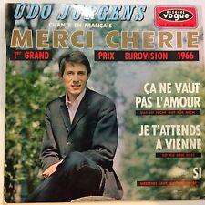 7'EP Udo Jürgens >Merci Cherie/+3< IN FRANZÖSISCH EUROVISION 1966
