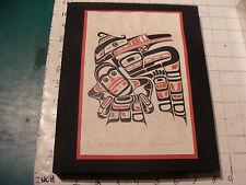 Vintage art: RICHARD HUNT--Print Signed and Titled, very cool in plastic frame