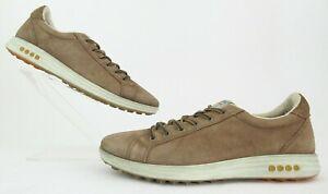 ECCO Street EVO ONE Plain Toe Golf Shoes Camel Waterproof Leather EU 43 US 9-9.5