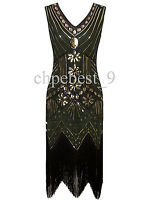 Sequin Beads Tassel Vintage 1920s Flapper Dress Gatsby Evening Dresses Plus Size