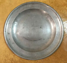 "18th Century English Pewter 8"" Plate - by John Townsend (1748-1801)"