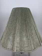 Gray Beige / Greige All Over Braided / Woven Design Lamp Shade UNIQUE Lampshade!