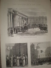 Electing a new Pope Vatican Rome Italy 1878 old prints Rf Y1