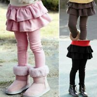 Autumn Baby Child Kids Toddlers Girls Tutu Skirt Leggings Pants Culottes 3-8Y