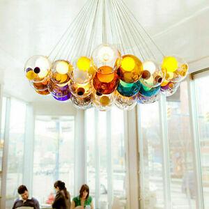 Modern 12 Globe Bubble LED Chandelier Glass Ceiling Lamp Pendant Light Fixtures