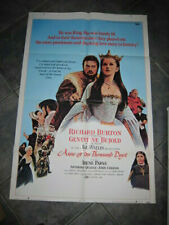 ANNE OF THE THOUSAND DAYS poster 1970  Richard Burton & Genevieve Bujold
