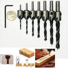 7pcs HSS svasatore trapano punta fresa Set lavorazione legno smusso 3-10mm DB