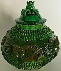 Vintage Mexican Pottery Pina Pot Jar Pineapple