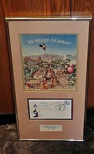 DISNEYLAND 35 YEARS OF MAGIC FRAMED ARTWORK & SPECIAL CANCELLATION ANNIVERSARY