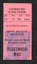 Original 1977 Fleetwood Mac concert ticket stub Rich Stadium Rumours Tour