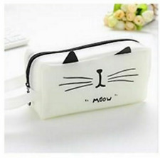Cartoon Pen Bag Cute Kawaii Cat School Pencil Case Stationery Pouch Box Supplies