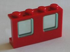 Fenetre rouge LEGO red Window ref 4863 + Glass / Set 6392 1720 6643 4031 7046...