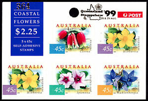 COASTAL FLOWERS sheetlet Qld '99 o/print. Best price on ebay with FREE POST