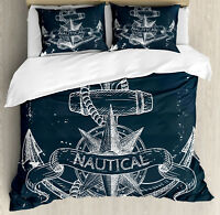 Nautical Vintage Ship/'s Wheel MARINER Pillow Cover Pillowcase Two 2
