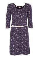 Damen Kleid Jerseykleid Strandkleid mit Gürtel blau KangaROOS NEU Größe 36 38