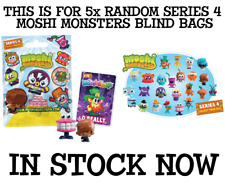 New 5X Moshi Monsters SERIES 4 Moshlings 2 Pack Blindbags STYLES WILL VARY 78007
