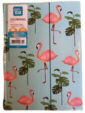 Pen + Gear 192 Pg Magnetic Journal Ruled Pages Flamingos Palm Leaves