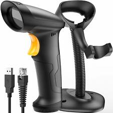 Inateck 1D USB Barcode Scanner with Intelligent Stand Wired, BCST-33