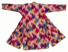 Antique Ouzbeks Ikat Femmes Manteau Antique Women's Silk Coat chyrpy no:37