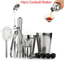 14 PCS Cocktail Shaker Set Drinks Strainer Bottle Opener Maker Mixer Bar Tool