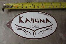 KAHUNA Boards Surfboards Hawaii Original Vintage Hawaiian Surfing STICKER