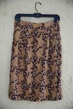 Vintage 80s 90s Women's Animal Print Leopard Print Pencil Skirt