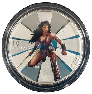 2016 Canadian $10 Silver 1/2oz - Batman v Superman: Wonder Woman
