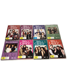 Will And Grace DVD Season 1 2 3 4 5 6 7 And 8 Region 4 PAL