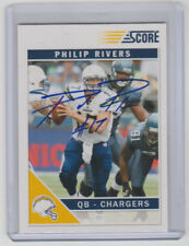 PHILIP RIVERS Chargers SIGNED 2011 Score Football #242 Autograph ON CARD AUTO