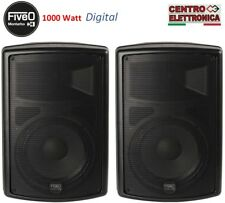 Coppia casse amplificate attive professionali 1000 Watt Montarbo Fiveo D10A