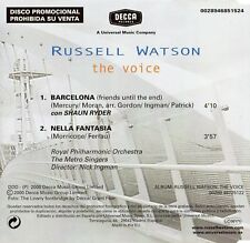 "RUSSELL WATSON ""BARCELONA"" RARE SPANISH PROMO CD SINGLE / FREDDIE MERCURY QUEEN"