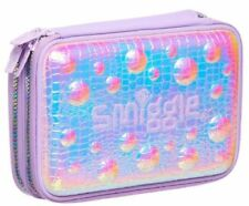 Smiggle Pizazz Double Up Hardtop Pencil Case violet pink color changing two tone